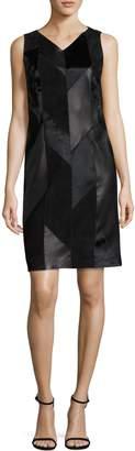 HUGO BOSS Syvila Leather Dress
