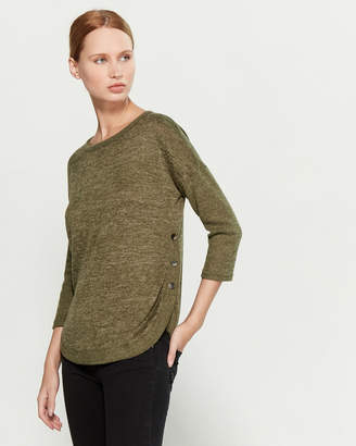 Absolutely Famous Three-Quarter Sleeve Hacci Sweater