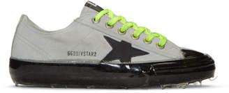 Golden Goose Grey Suede V-Star Dip Sneakers