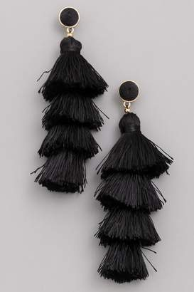 Compendium Stacked Fringe Earrings