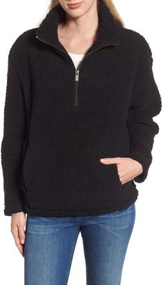 Andrew Marc Teddy Faux Shearling Quarter Zip Jacket