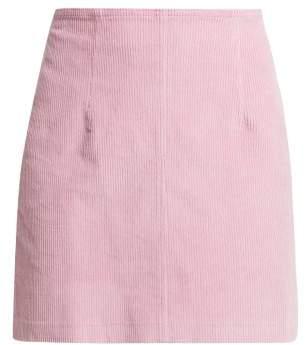 Staud - Phoebe Corduroy Mini Skirt - Womens - Pink
