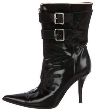 Michael Kors Leather Mid-Calf Boot