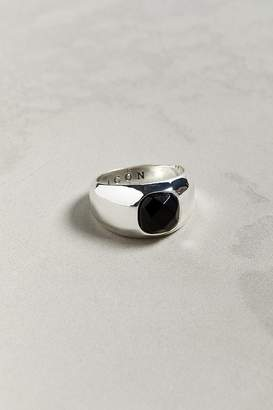 Icon Eyewear Brand Antique Silver Ring