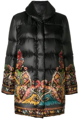Etro patterned puffer coat