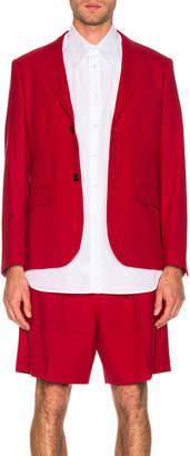 Raf Simons Small Fit Blazer in Red | FWRD