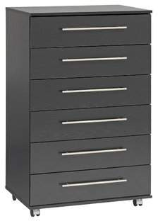 Ideal Furniture BOBY0010-BCH 6 Drawer Chest, Wood, Beech