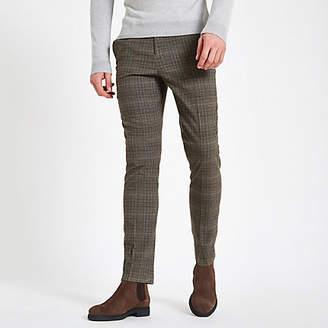 River Island Grey check skinny fit pants