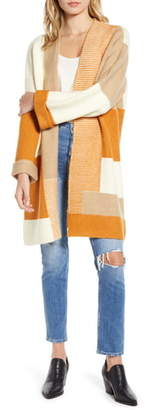 Moon River Patchwork Longline Cardigan