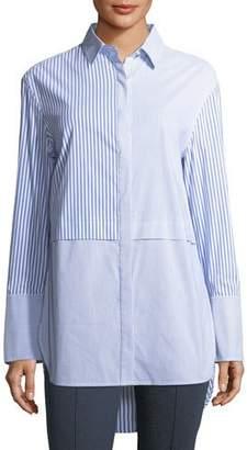 St. John Striped Long-Sleeve Tunic