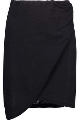 IRO Wrap-Effect Ribbed-Knit Mini Skirt