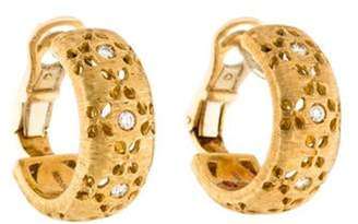 Roberto Coin 18K Diamond Granada Half Hoop Earrings yellow 18K Diamond Granada Half Hoop Earrings