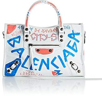 Balenciaga Women's Arena Leather Small City Bag - White