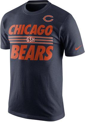 Nike Men's Chicago Bears Team Stripe T-Shirt $28 thestylecure.com