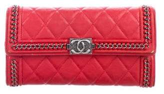 Chanel 2016 Boy Quilted Wallet