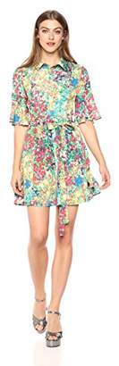 Wild Meadow Women's Printed Flowy Shirt Dress XS