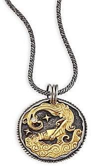 Konstantino Women's Zodiac 18K Gold, Sterling Silver& Diamond Aquarius Pendant