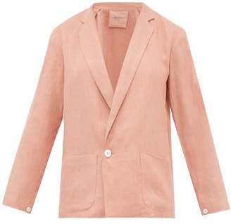 Loup Charmant Saint Denis Linen Blazer - Womens - Pink