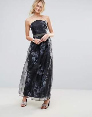 Little Mistress Organza Maxi Dress