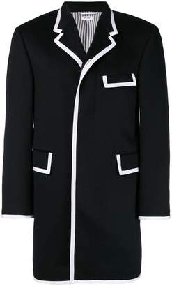 Thom Browne Contrast Tipping Cashmere Chesterfield
