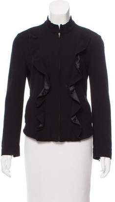 Diane von Furstenberg Mock Neck Zip-Up Jacket