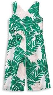Janie and Jack Baby Girl's, Little Girl's & Girl's Palm Print Jumpsuit