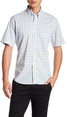 Tailorbyrd Plaid Short Sleeve Woven Shirt