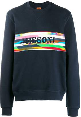 Missoni logo band sweatshirt