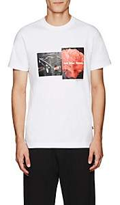 Blood Brother MEN'S BLOOM COTTON T-SHIRT-WHITE SIZE M