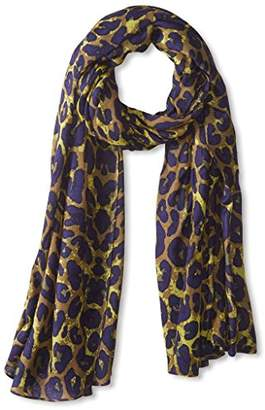 Theodora & Callum Women's Leopard Wearable Art Blanket Scarf