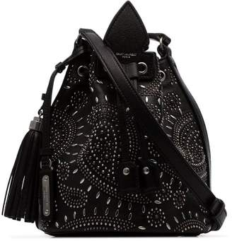 Saint Laurent black Anja bandana stud-embellished leather bucket bag
