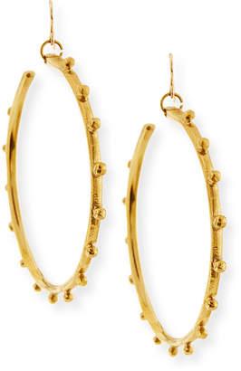 Ashley Pittman Teli Studded Bronze Hoop Earrings