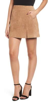 Blank NYC BLANKNYC A-Line Suede Skirt