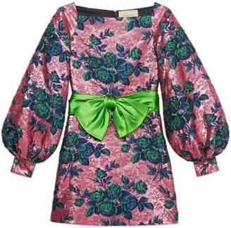 Gucci Floral jacquard mini dress