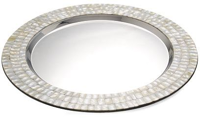 Mother-of-Pearl Round Tray