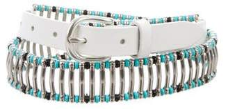 IRO Leather Embellished Belt w/ Tags