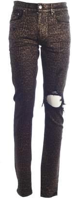Amiri Leopard Print Jeans