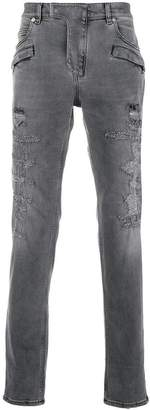 Balmain distressed 7 pocket skinny jeans