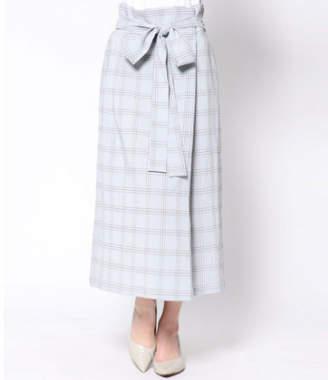 AULI (アウリィ) - AULI チェック柄ラップ風スカート