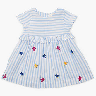 John Lewis & Partners Baby Bird and Stripe Dress, Multi