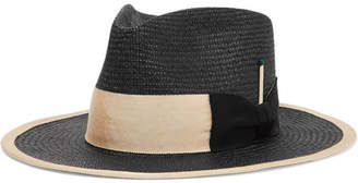 Nick Fouquet - Grosgrain-trimmed Straw Fedora - Black