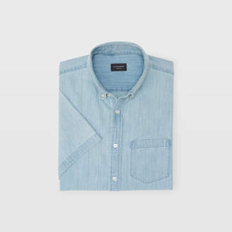 Club Monaco Slim Short-Sleeve Denim Shirt