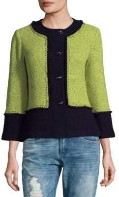 St. John Colorblock Wool-Blend Jacket