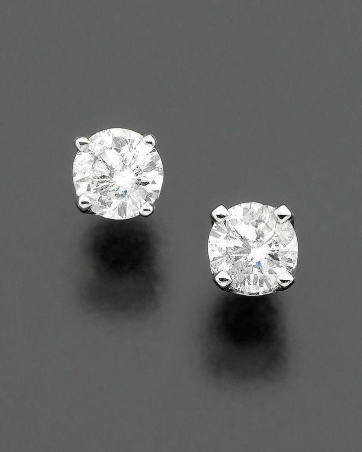 14k White Gold Diamond Stud Earrings (3/4 ct. t.w.)