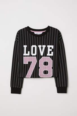 H&M Short Sweatshirt - Black