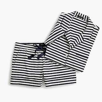 J.Crew Dreamy short-sleeve cotton pajama set in stripe