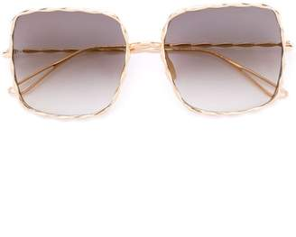 Elie Saab oversized sunglasses