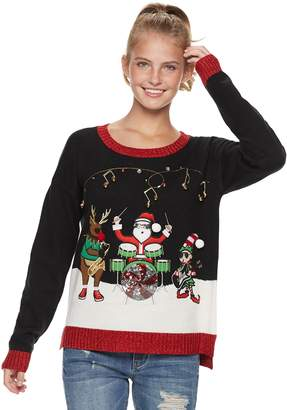 It's Our Time Its Our Time Juniors' Musical Trio Christmas Sweater