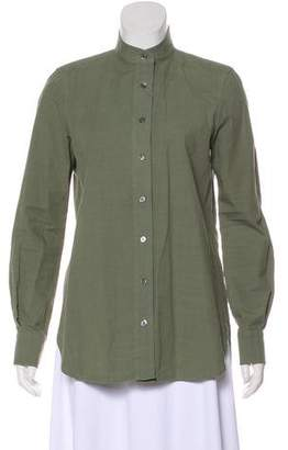 Frame Long Sleeve Button-Up Top