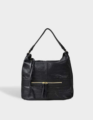Gerard Darel Midday GD Bag in Black Lambskin Leather